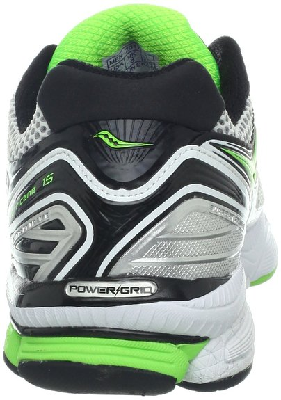 cushioned Saucony Hurricane 15 heel