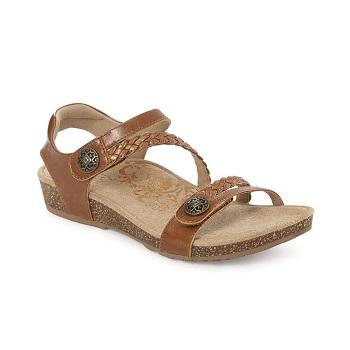 Aetrex Women's Jillian Quarter Strap Sandal