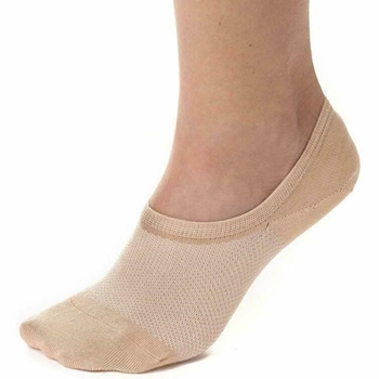 Bam&bü Women's Premium Bamboo No Show Casual Socks - 3 or 4 pair pack - Non-Slip