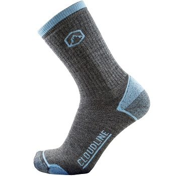 CloudLine Merino Wool Crew Hiking & Trekking Socks Medium Cushion
