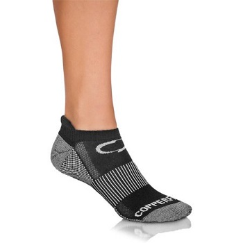 Copper Fit Unisex Copper Infused No Show Socks - 3 Pack