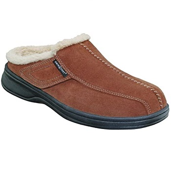 Orthofeet Asheville Plantar Fasciitis Men's Leather Slippers