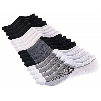 Sixdaysocks No Show Socks for Men 8 pack Low Cut