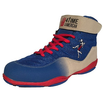 4 Time All American The Patriot, Blue Wrestling Shoes